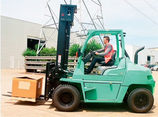Mitsubishi -Grendia -FD70N,-forklift ,-review ,-side ,-ATN