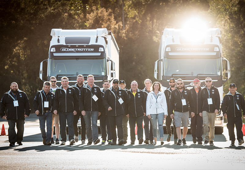 Competitors in the 2017 Volvo Drivers' Fuel Challenge. A great bunch of proud and professional people