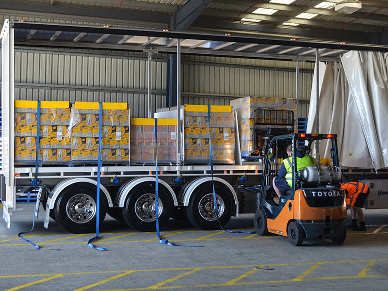 Loading at Diageo's Sydney warehouse
