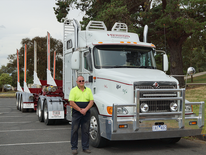 Keith Herron was driving a 2006 International Eagle 9200 when he retired this year, just short of his 70th birthday